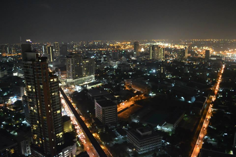 Octave Rooftop bar biedt een fantastisch zicht op Bangkok, Thailand, Zuid Oost-Azië