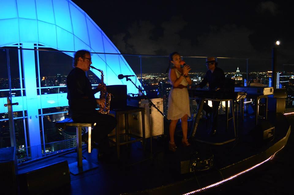 live muziek in Red Sky Bar, Bangkok, Thailand, Zuid Oost-Azië