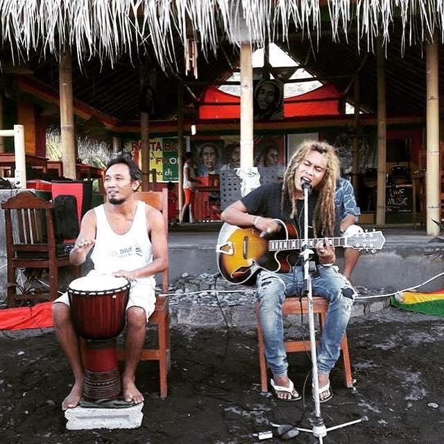 Reggae bar in Amed, Bali, Indonesië, Zuid Oost-Azië