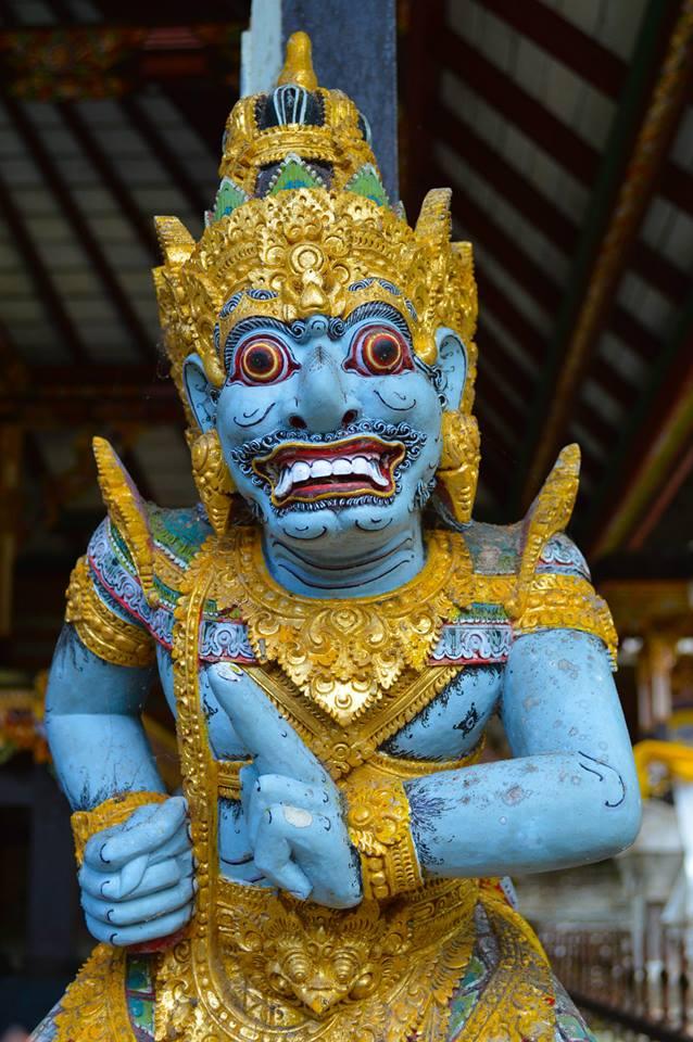 Hindoe tempel in Bali, Indonesië, Zuid Oost-Azië