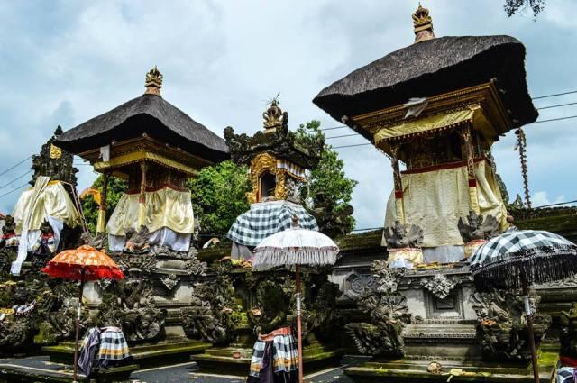 Hindoe tempel Bali, Indonesië, Zuid Oost-Azië