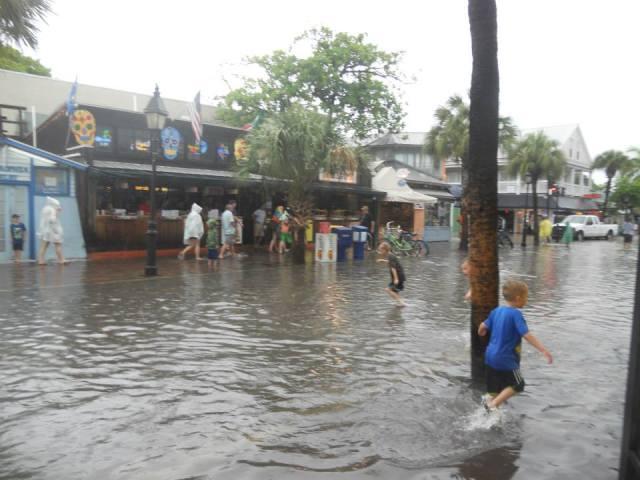 Overstroming in Key West, Florida, Verenigde Staten