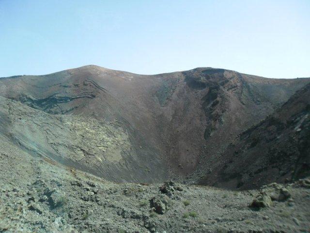 Vulkaan in Timanfaya nationaal park, Lanzarote, Canarische eilanden, Spanje