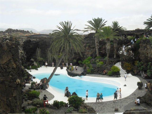zewembad Jameos del Agia César Manrique, Lanzarote, Canarische eilanden, Spanje