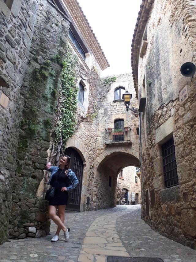 Binnenstad Gotische dorp Pals, Costa Brava, Spanje