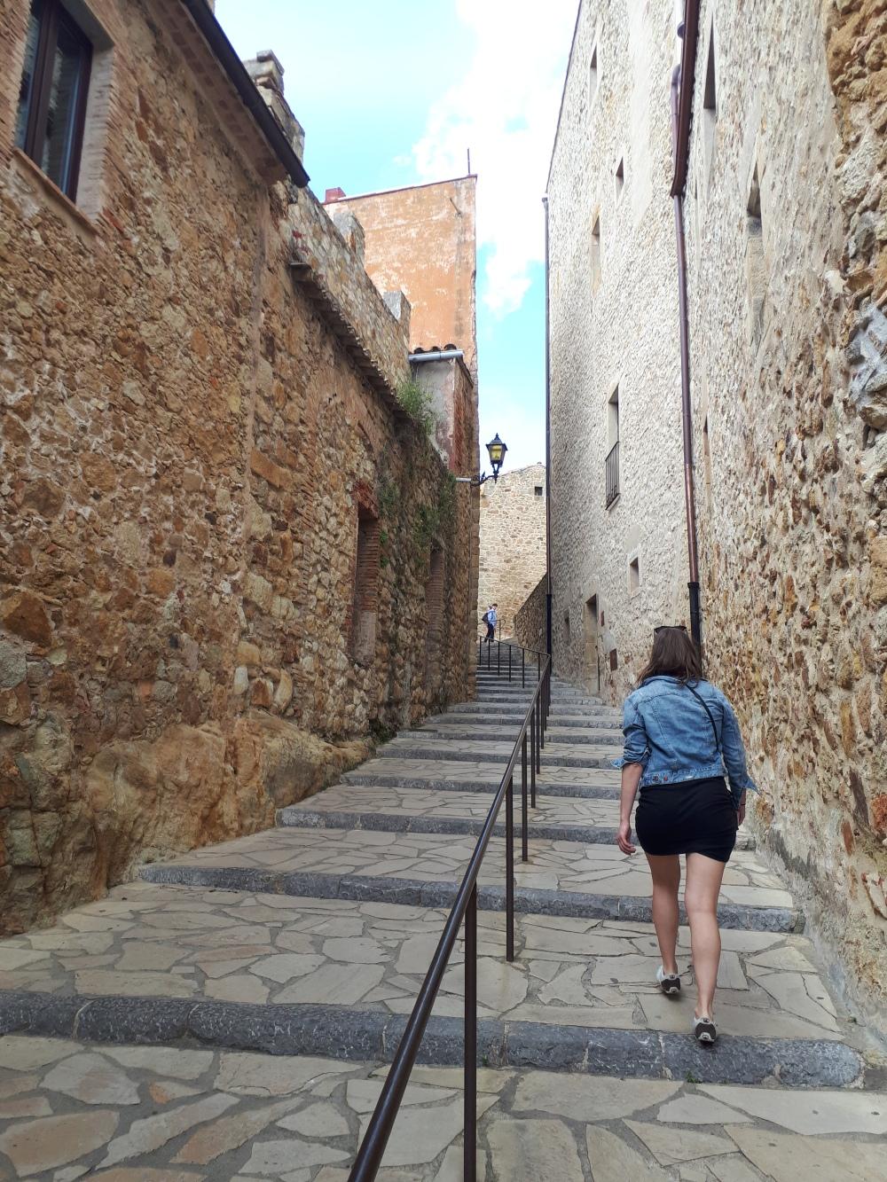 Binnenstad gotische dorp Pals Costa Brava, Spanje