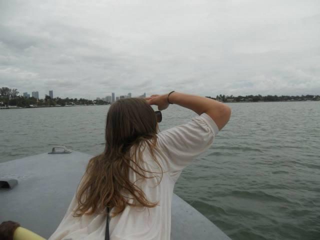 Boottocht baai Miami, Florida, Verenigde Staten