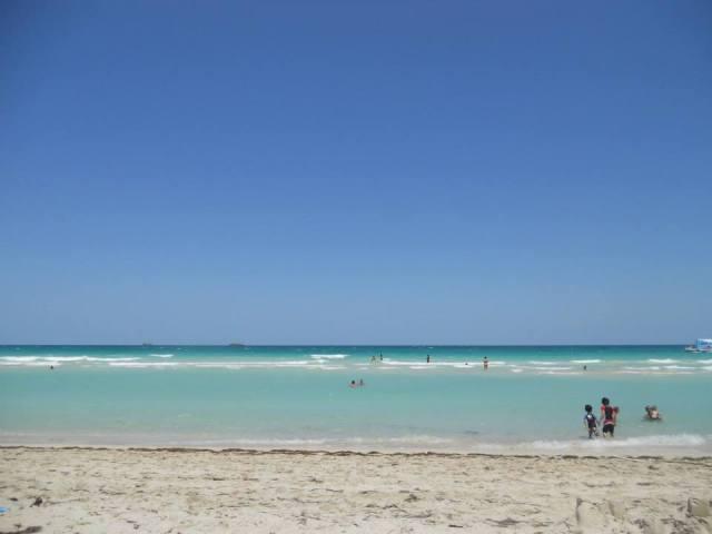 Miami Beach kustlijn in Miami, Florida, Verenigde Staten