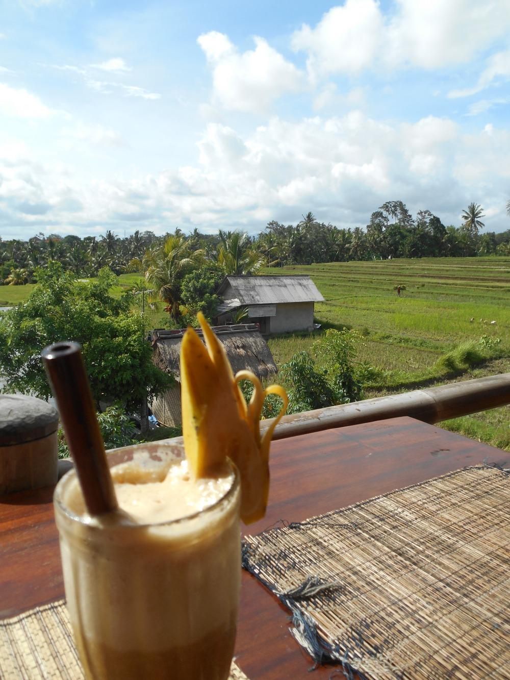 Sari Organik bananenshake Ubud Bali Indonesië, Zuid Oost-Azië