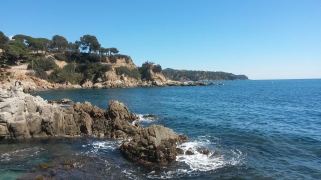 Prachtig uitzicht op de kust in Lloret de Mar, Costa Brava, Spanje