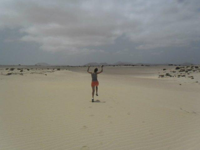 Alleen op de wereld in Corralejo National Park,