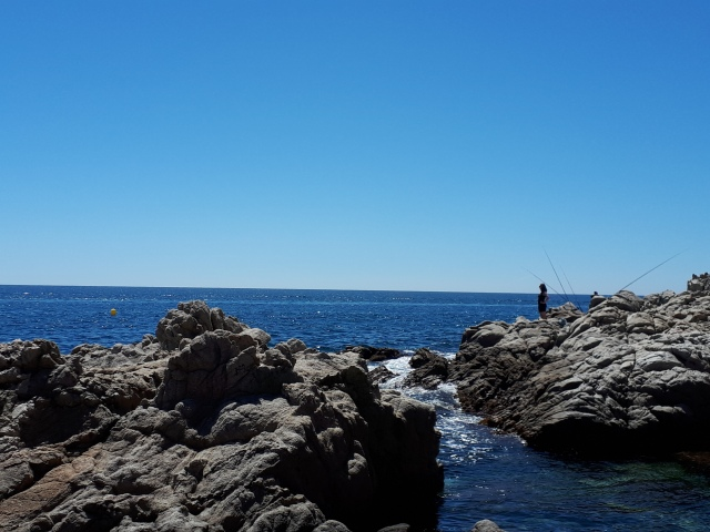 Rotskust in Lloret de Mar, Cosa Brava, Spanje