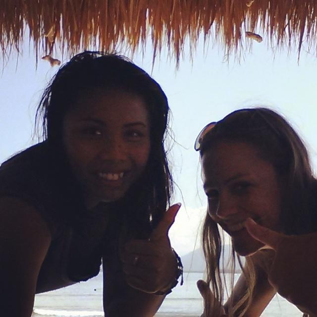Gili air met mijn Indonesische vriendin Sri, Lombok, Indonesië, Zuid Oost-Azië