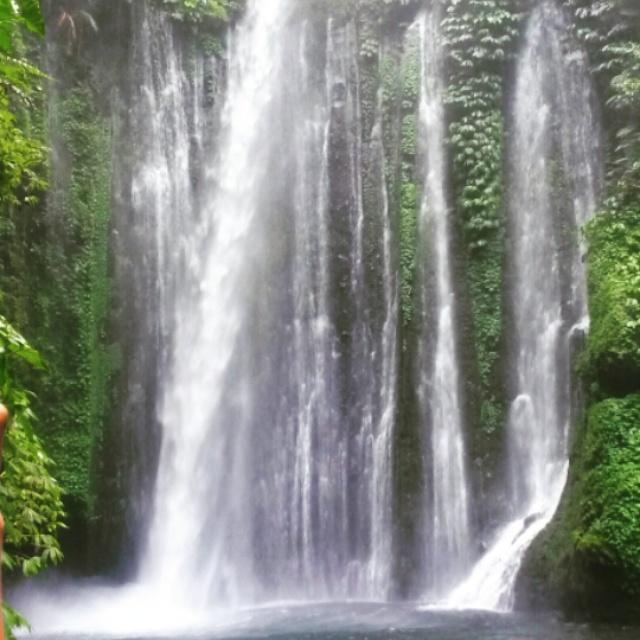 Senaru watervallen, lombok, Indonesië, Zuid Oost-Azië