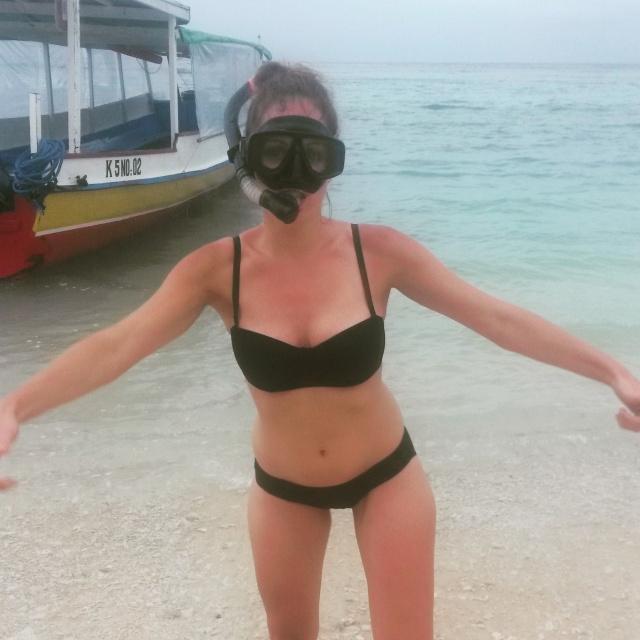 snorkelen Gili Meno, Lombok, Indonesië. Zuid Oost-Azië
