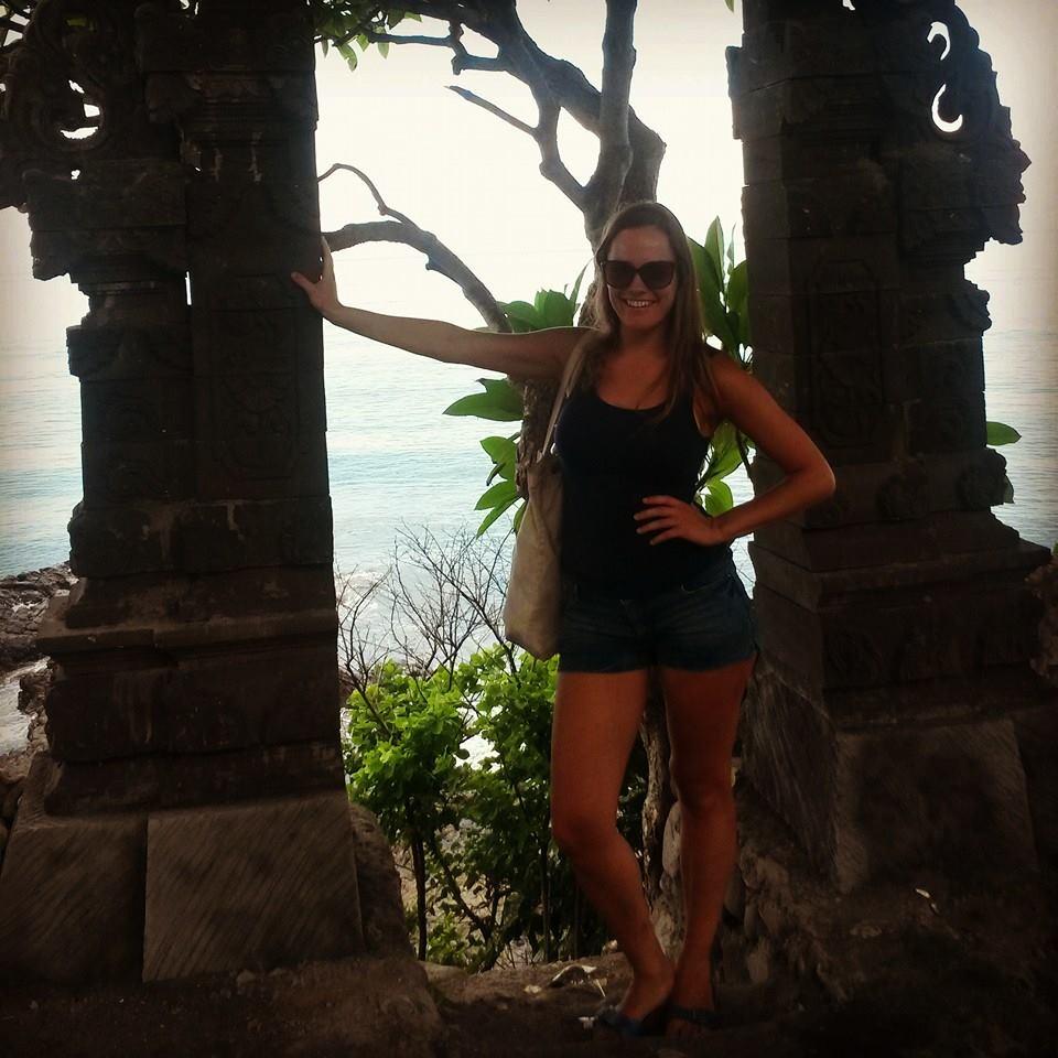 Ruïne van een tempel in Senggigi, Lombok, Indonesië, Zuid Oost-Azië
