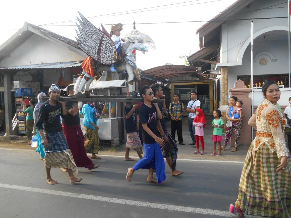 Religieuze stoet in Lombok, Indonesië, Zuid Oost-Azië