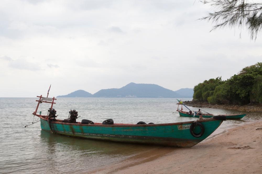 Boot Rabbit Islans, Koh Tonsay, Kep, Cambodja, Zuid Oost-Azië
