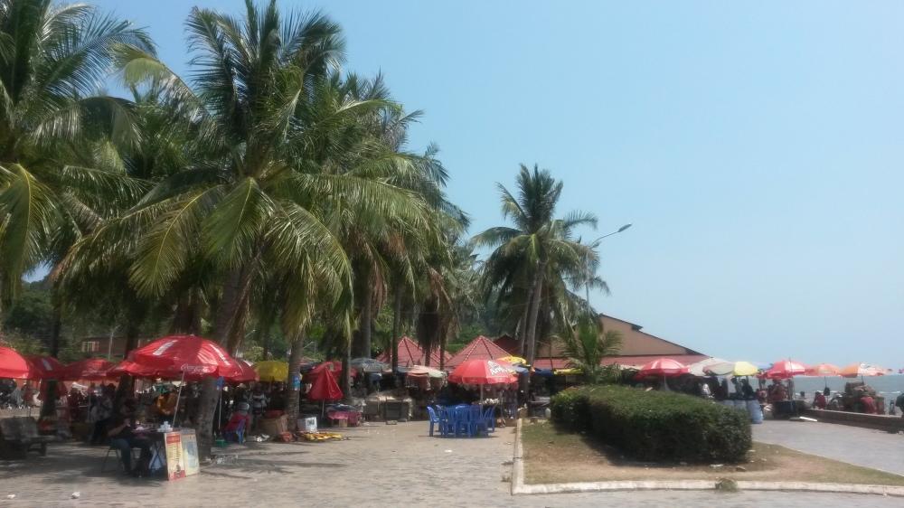 marktplaats in Kep, Cambodja, Zuid Oost-Azië