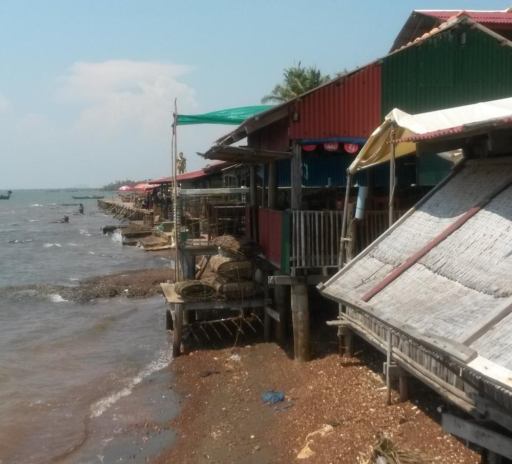 krab restaurantjes in kep, cambodja, zuid oost-azië