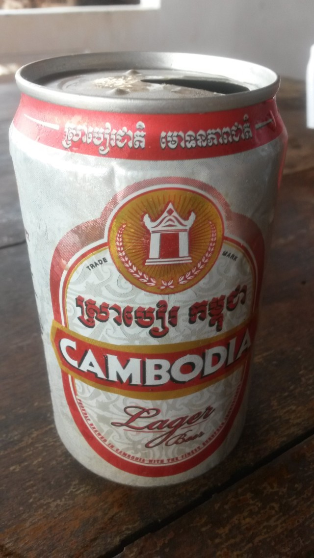 Cambodjaans bier in Kep, Cambodja, Zuid Oost-Azië